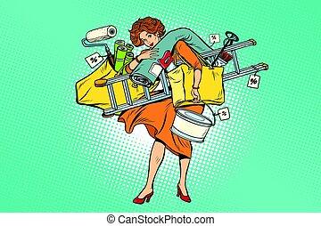 outils, achats femme, réparation