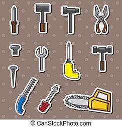 outils, autocollants