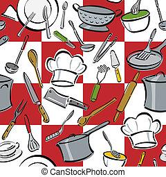 outils, cuisine, chèque