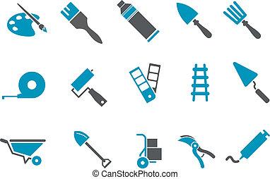 outils, ensemble, icône