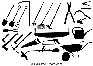outils, jardinage, collection
