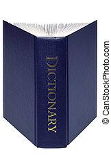 ouvert, dictionnaire, isolé