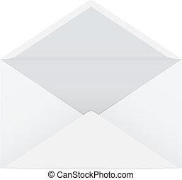 ouvert, enveloppe