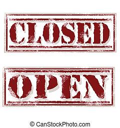 ouvert, fermé