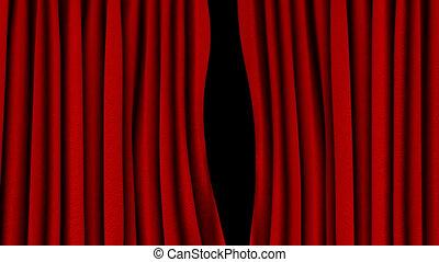 ouverture, (, rideau rouge, canal alpha