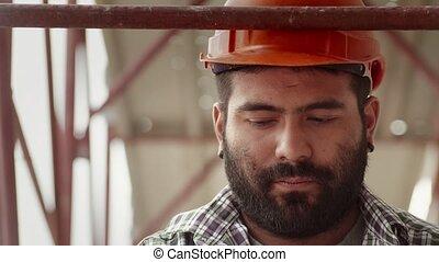 ouvrier, construction, métier, 2of11, homme