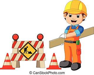ouvrier construction, signe