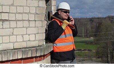 ouvrier construction, sledgehamm