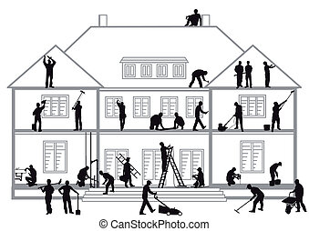 ouvriers construction, travail