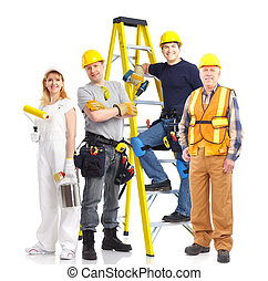 ouvriers, gens, industriel