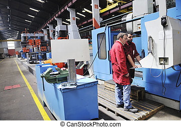 ouvriers, usine, gens
