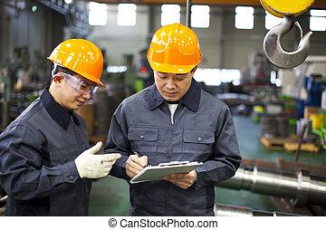 ouvriers, usine