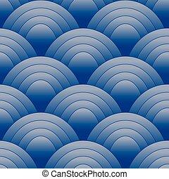 ovale, modèle, bleu, seamles
