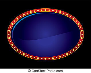 ovale, néon