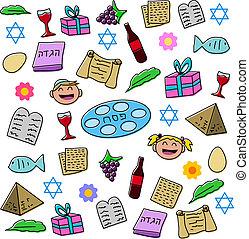 pâque, vacances, symboles, meute