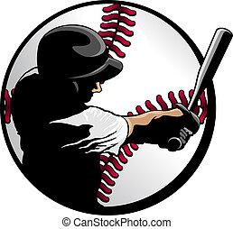 pâte, balle, closeup, base-ball