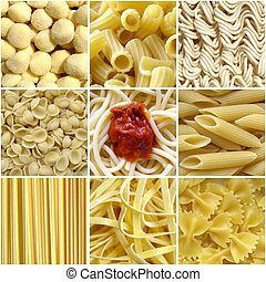 pâtes, collage
