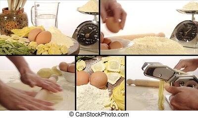 pâtes, montage, italien