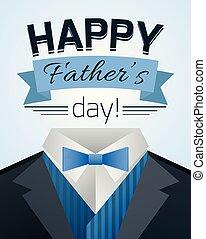 pères, illustration, mens, suit., jour, heureux