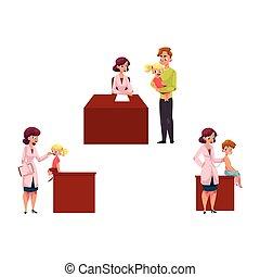 pédiatre, gosses, chidren, fonctionnement, docteur