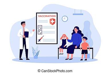 pédiatre, mère, gosses, consultant