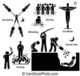 pénalité, exécution, mort, punition