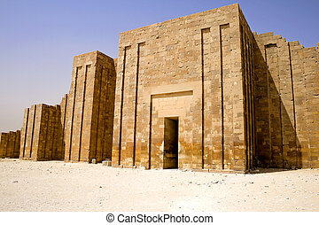 périmètre, mur, étape, pyramide