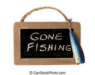 pêche allée, signe
