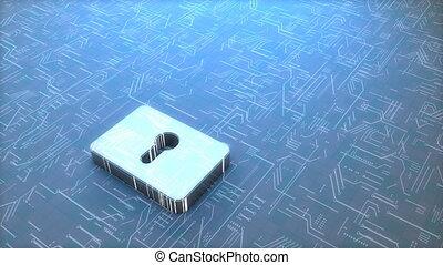padlock., numérique