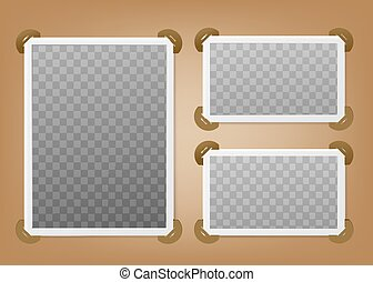 page, horizontal, photos., album, vertical, cadres, ton, photo