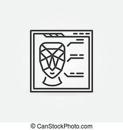 page, vecteur, échange, concept, toile, figure, icône, linéaire