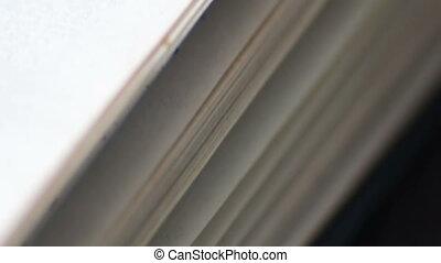 pages, livre, tourner