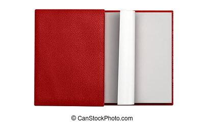 pages, livre, tourner, moderne, vide