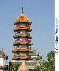 pagode, temple, chinois