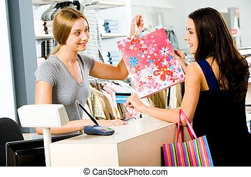 paiement, magasin