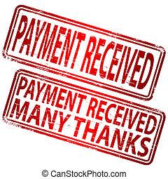 paiement, reçu, timbre