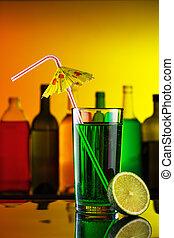 paille, barre, alcool, cocktail, chaux