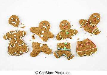 pain épice, cookies., cassé