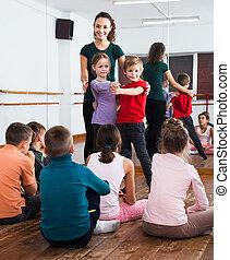 paire, enfants, danse, danse