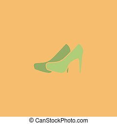paire, vecteur, chaussures