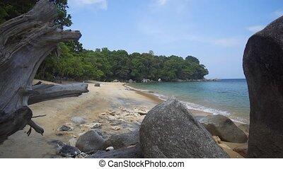 paisible, exotique, thaïlande, plage, phuket, son