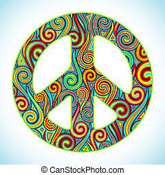 paix, coloré