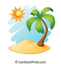 palmier, île