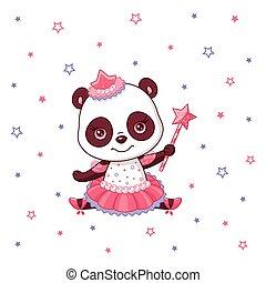 panda, ballerine, mignon