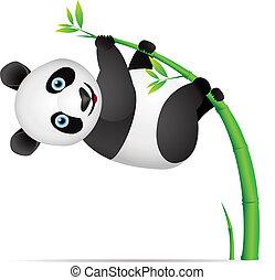 panda, dessin animé