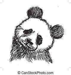 panda, porcelaine, symbole