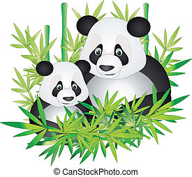 panda, vecteur