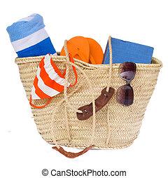 panier, bains de soleil, accessoires