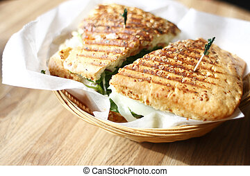 panini, sandwich