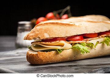 panini, sandwich, grillé
